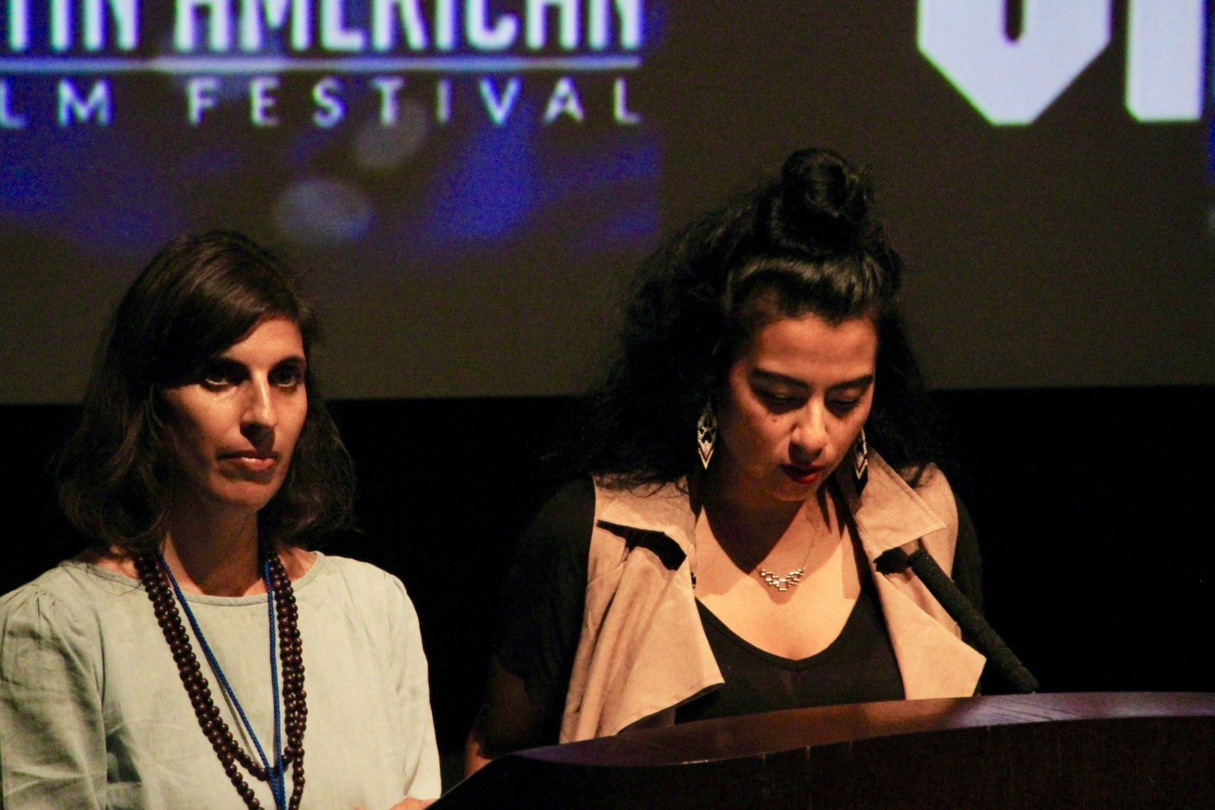 Presenting the films with Sonia Medel. Photo by Fatima Jaffer